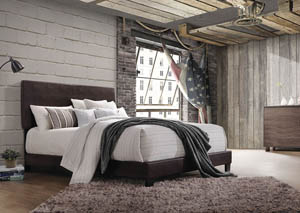 Lien Espresso PU Queen Bed