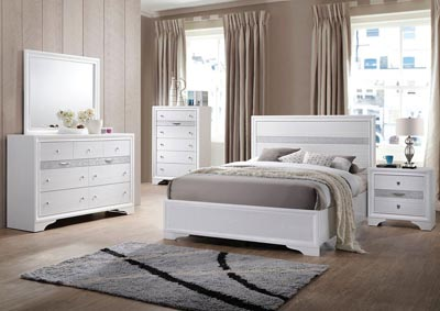 Naima White Twin Bed