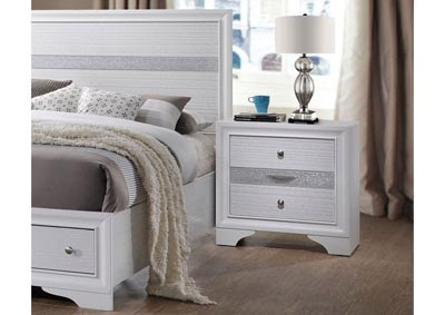 Naima White Nightstand