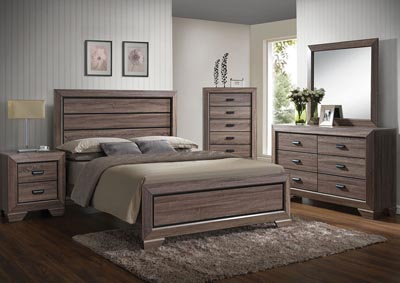 Lyndon Weathered Gray Queen Bed