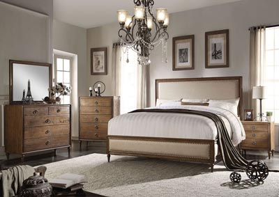 Inverness Beige/Reclaimed Oak California King Bed