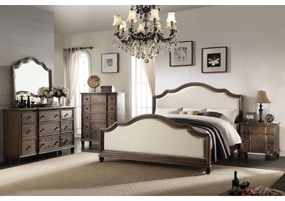 Baudouin Beige/Weathered Oak California King Bed