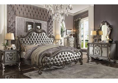 Versailles II Antique Platinum Upholstered California King Bed