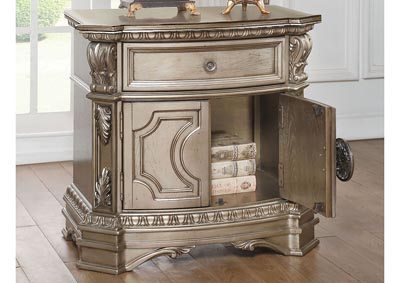 Northville Antique Champagne Nightstand