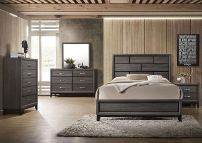 Valdemar Weathered Gray Queen Bed
