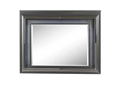Metallic Gray Mirror w/LED