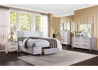 Aromas White Oak California King Storage Bed