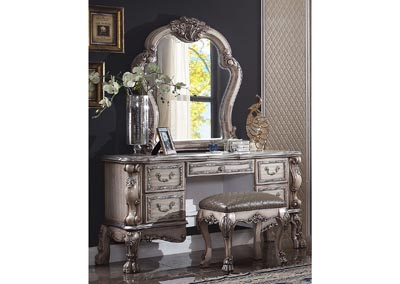 Image for Dresden Vintage White Vanity Desk