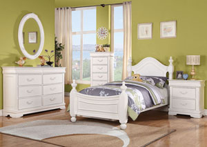 Classique White Full Panel Bed