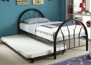 Image for Silhouette Black Metal Twin Bed