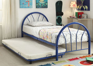 Image for Silhouette Blue Metal Twin Bed