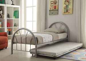 Image for Silhouette Silver Metal Twin Bed
