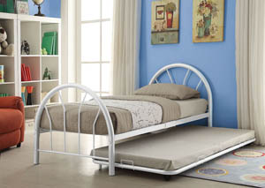 Image for Silhouette White Metal Twin Bed