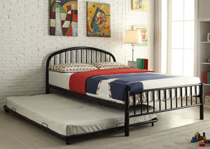 Cailyn Black Metal Twin Bed
