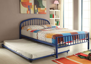 Cailyn Blue Metal Twin Trundle