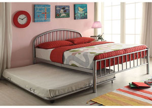 Image for Cailyn Silver Metal Twin Bed