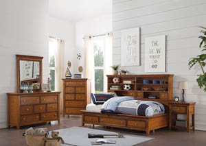 Lacey Cherry Oak Twin Daybed