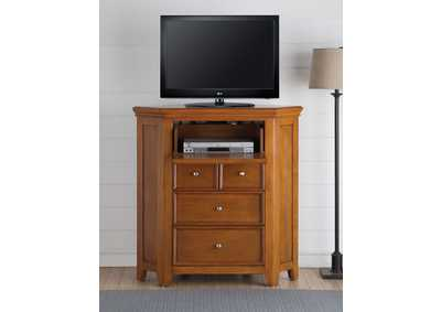Image for Lacey Cherry Oak Corner TV Stand