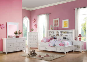 Lacey White Full Daybed w/Storage