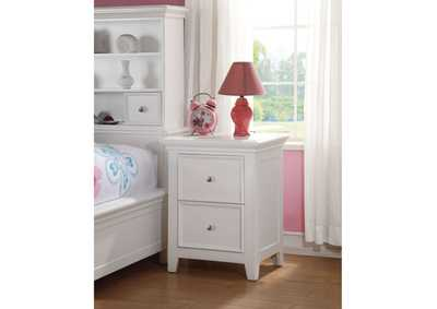 Image for Lacey White 2 Drawer Nightstand