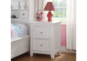Lacey White Nightstand w/2 Drawers