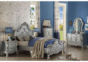 Dresden Silver Queen Panel Bed