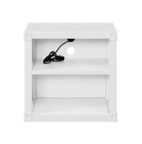 Image for Cargo White Nightstand (USB)