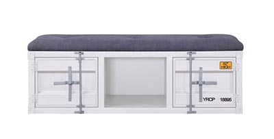 Cargo White Storage Bench