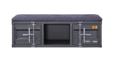 Cargo Gunmetal Storage Bench