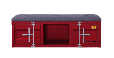 Cargo Red Bench (Storage)