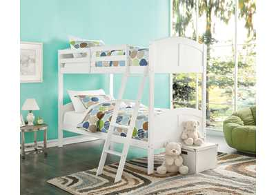 Image for Toshi White Twin/Twin Bunk Bed