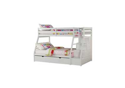 Image for Jason White Twin/Full Bunk Bed