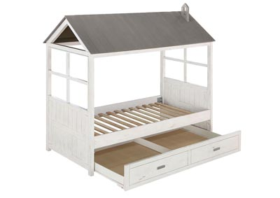 Tree House II Weathered White/Washed Gray Twin Bed
