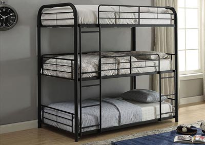Cairo Sandy Black Bunk Bed - Triple Full