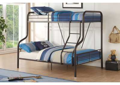 Cairo Sandy Black Bunk Bed (Twin/Full)