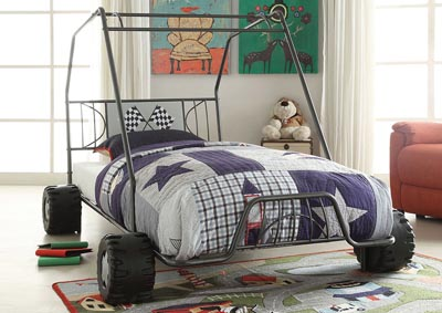 Xander Gunmetal Go Kart Twin Bed