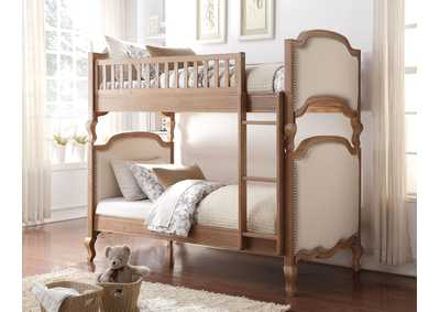 Charlton Cream/Salvage Oak Twin/Twin Bunk Bed