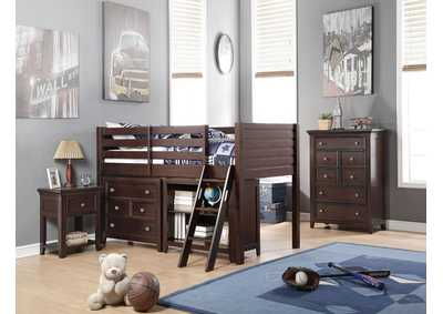 Lacey Espresso Twin Loft Bed