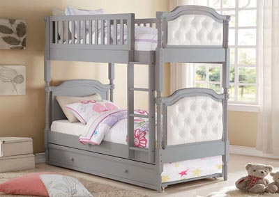 Pearlie Pearl/Antique Gray Twin/Twin Bunk Bed