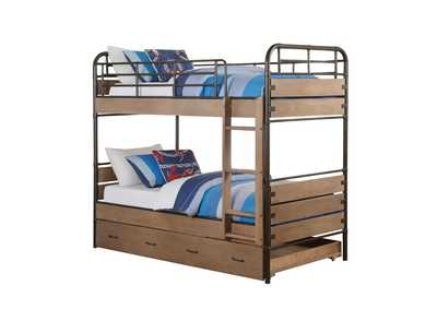 Adams Antique Oak Twin/Twin Bunk Bed