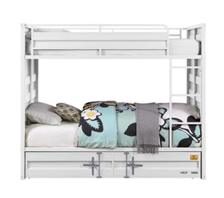 Image for Cargo White Twin/Twin Bunk Bed (No Trundle)