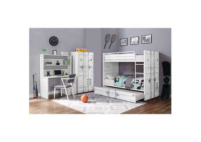 Image for Cargo White Full/Full Bunk Bed W/ Trundle
