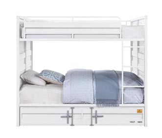 Cargo White Full/Full Bunk Bed