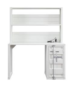 Cargo White Desk and Hutch