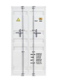 Cargo White Wardrobe (Double Door)