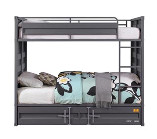 Image for Cargo Gunmetal Twin/Twin Bunk Bed