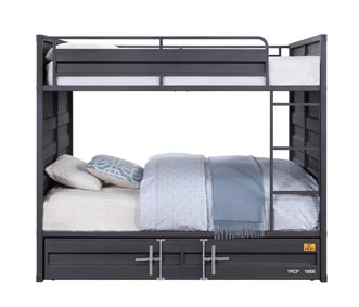 Image for Cargo Gunmetal Full/Full Bunk Bed