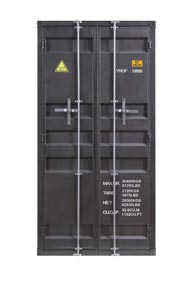 Cargo Gunmetal Wardrobe (Double Door)