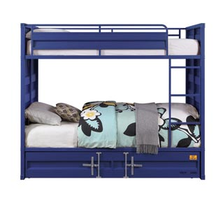 Image for Cargo Blue Twin/Twin Bunk Bed (No Trundle)