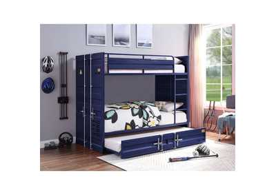Image for Cargo Blue Twin/Twin Bunk Bed W/ Trundle